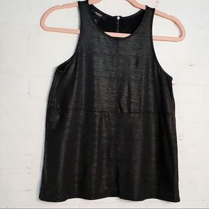ALFANI PETITE SPANDEX SLEEVELESS BLACK TOP SMALL